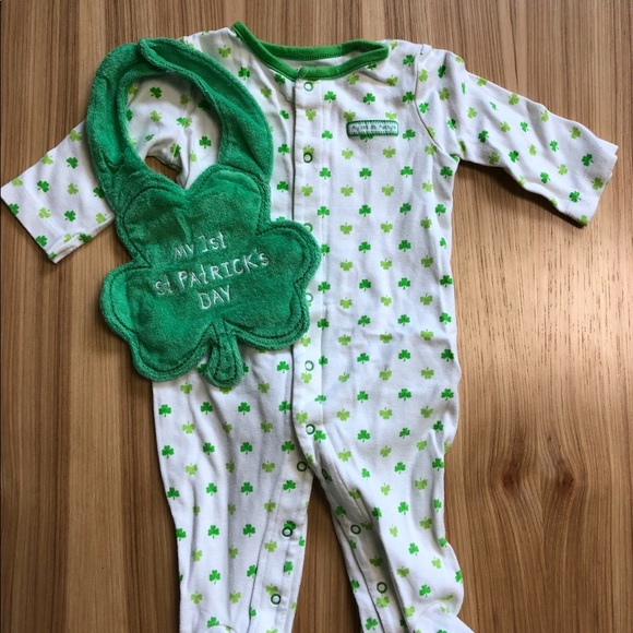 927ddc96d Carter's One Pieces | My First St Patricks Day Sleeperoutfit With ...